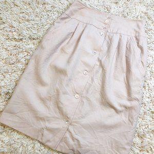Vintage Liz Claiborne Light Pink 100% Wool Skirt